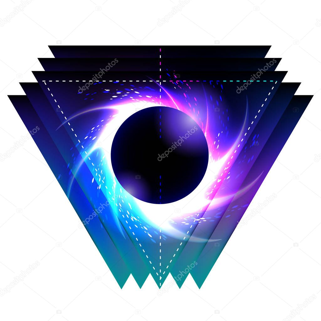 Black hole with starry vortex