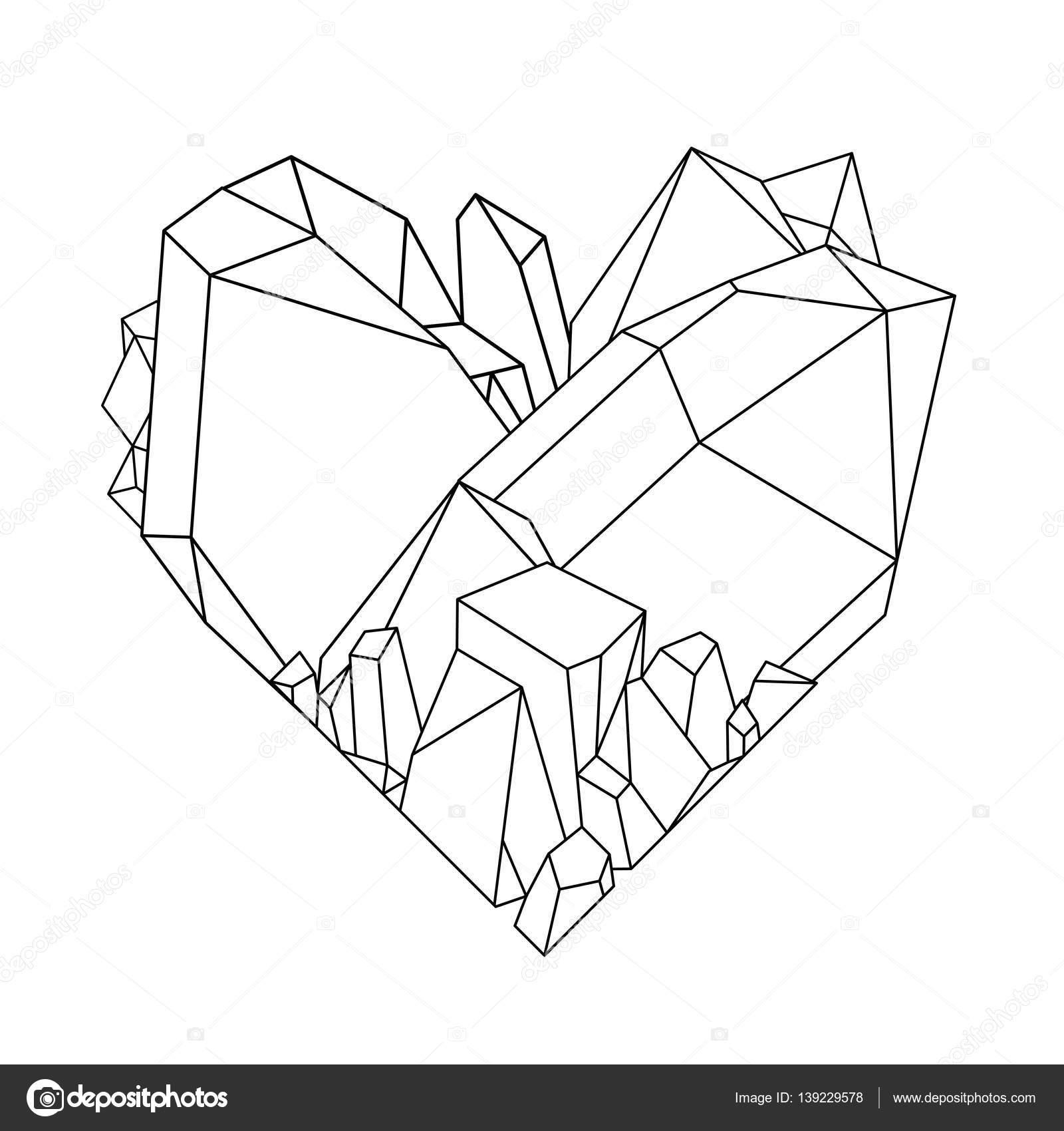 Corazón de cristal gráfico — Vector de stock © homunkulus28 #139229578