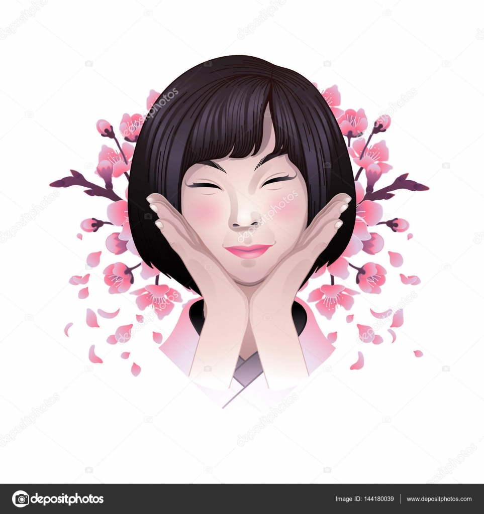 Asian girl illustration what