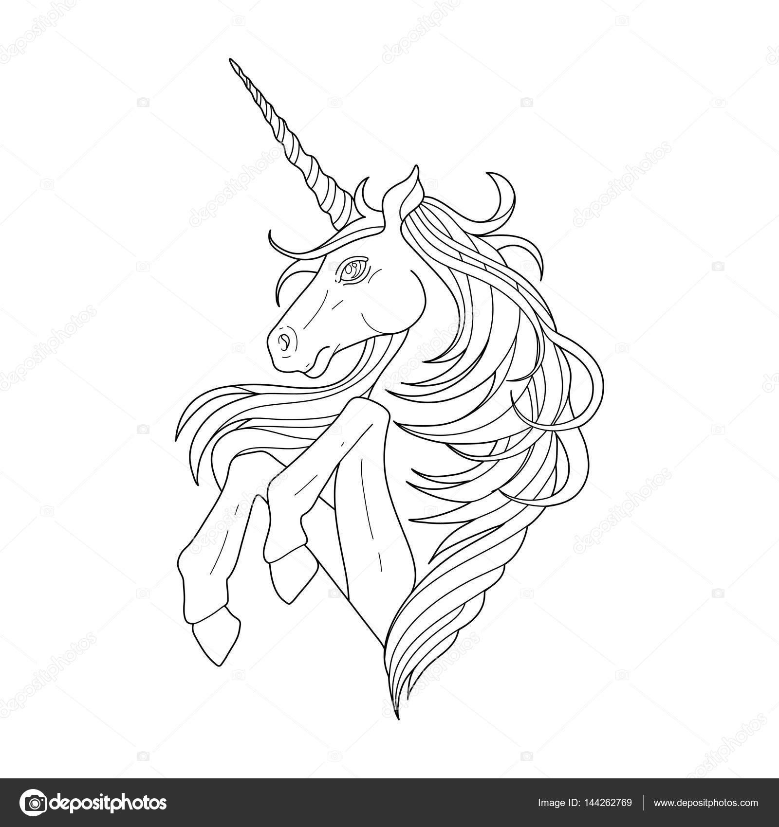 Lindo unicornio gráfico — Archivo Imágenes Vectoriales ...