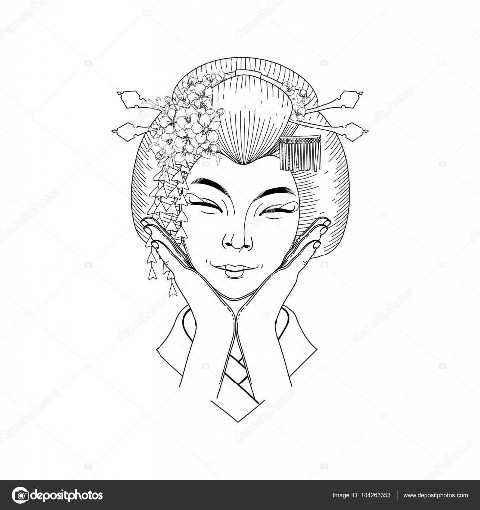 şirin Asyalı Kız Stok Vektör Homunkulus28 144263353