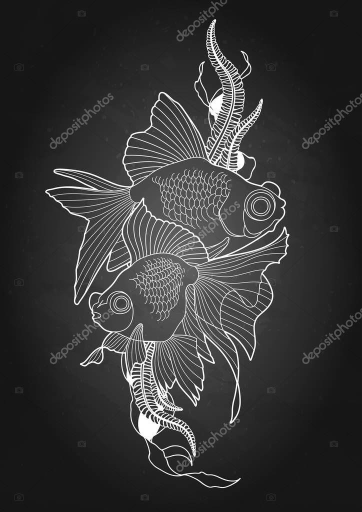 Graphic telescope fish