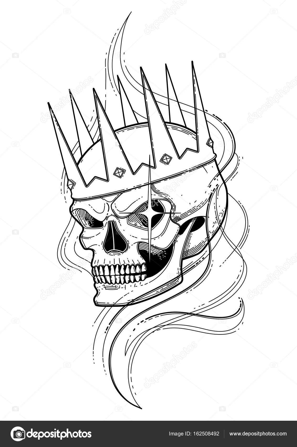 Cráneo de la corona — Vector de stock © homunkulus28 #162508492