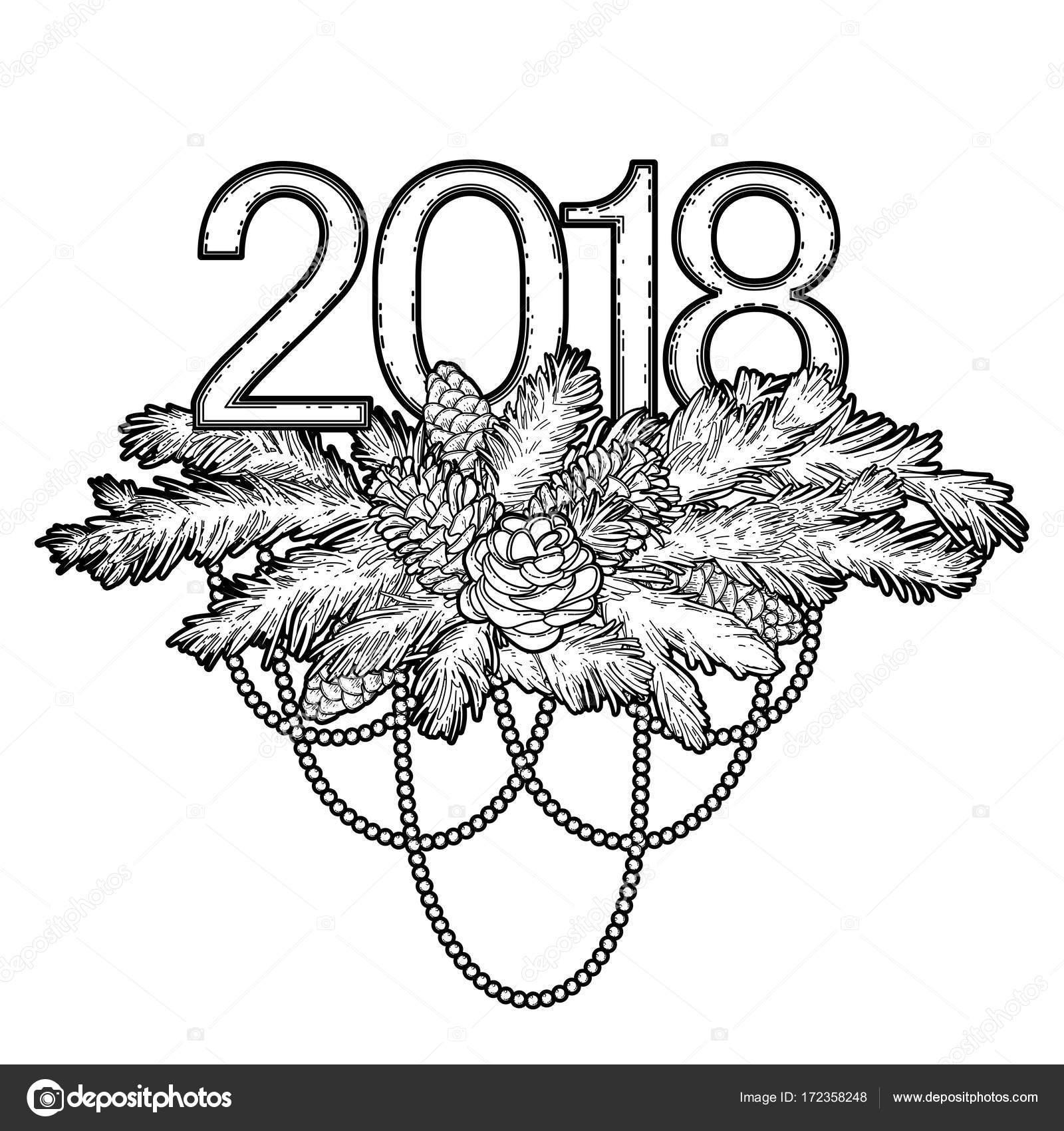 Contemporáneo Día De Año Nuevo Para Colorear Embellecimiento ...