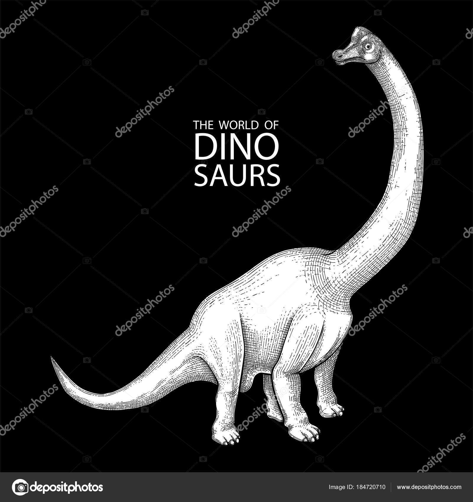 Dinosaurio gráfico realista — Vector de stock © homunkulus28 #184720710