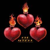 Akvarell lángoló szív