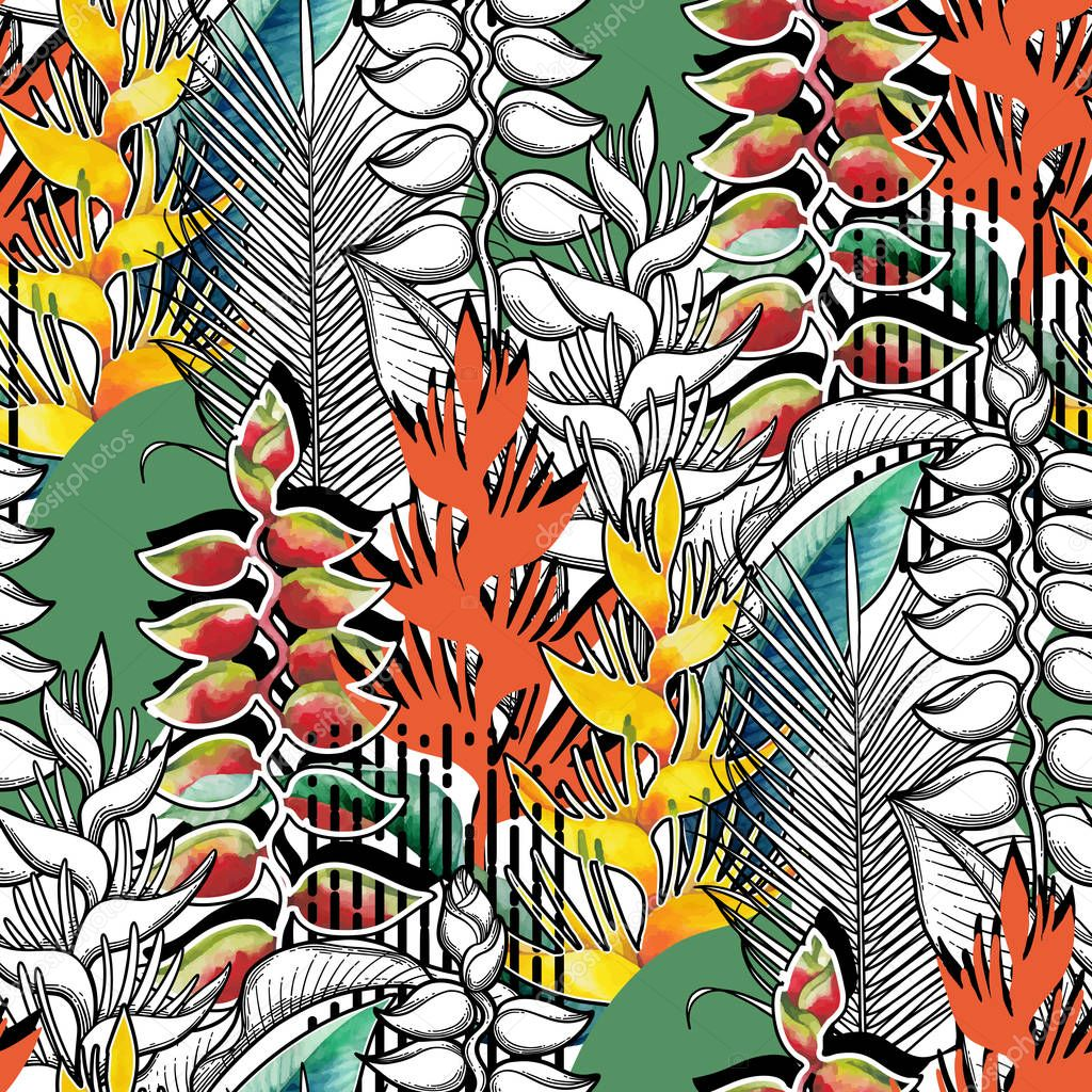Combined heliconia pattern