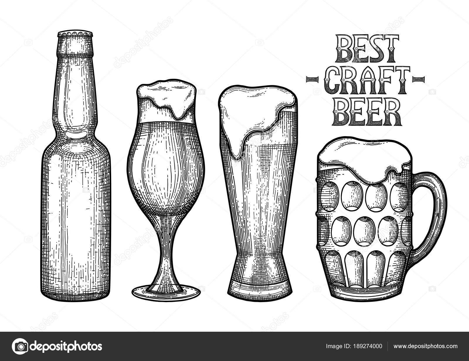 Botella De Cerveza Dibujo: Calquiar Pra Una Cerveza