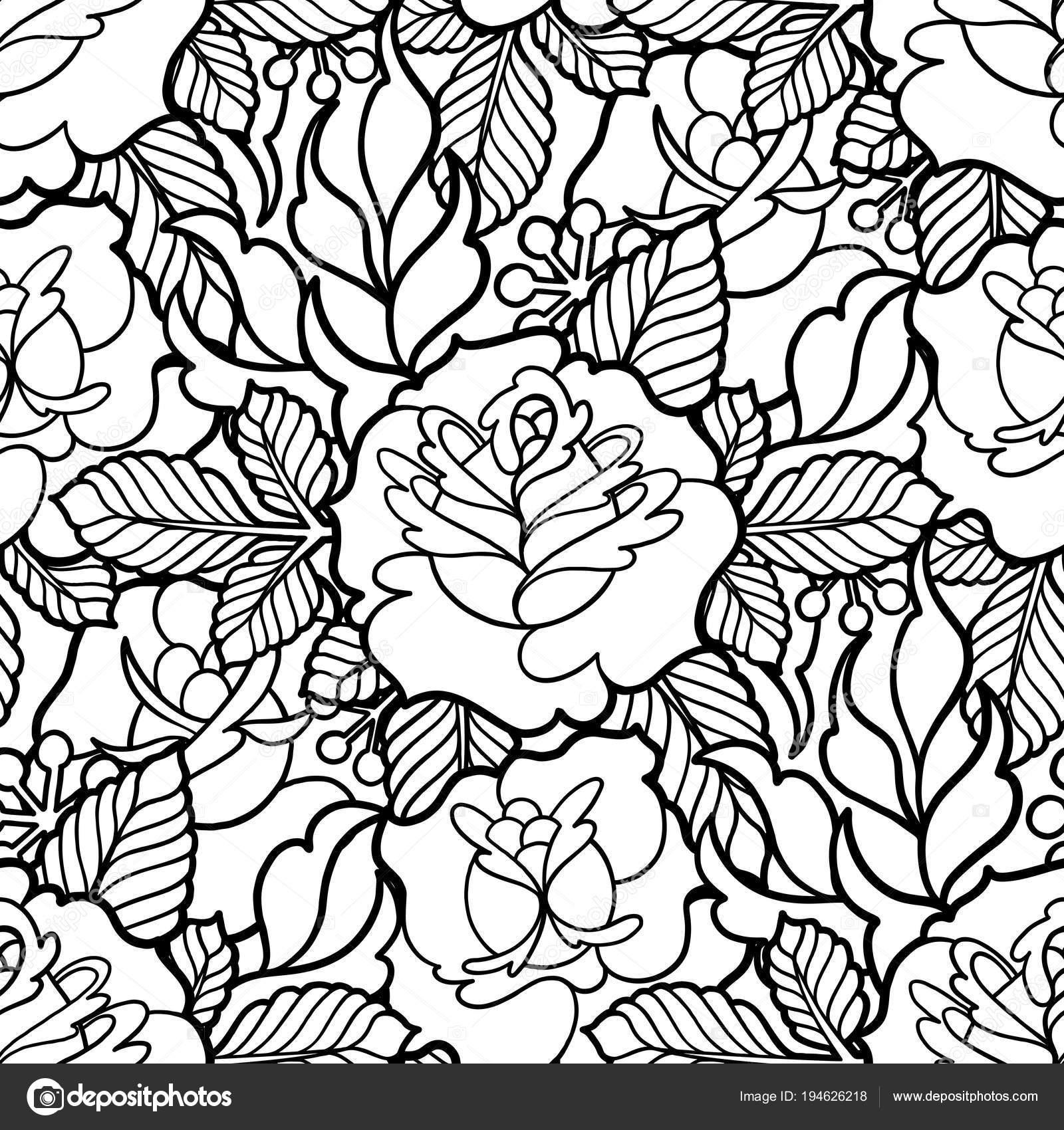 estampado floral gráfico — Vector de stock © homunkulus28 #194626218