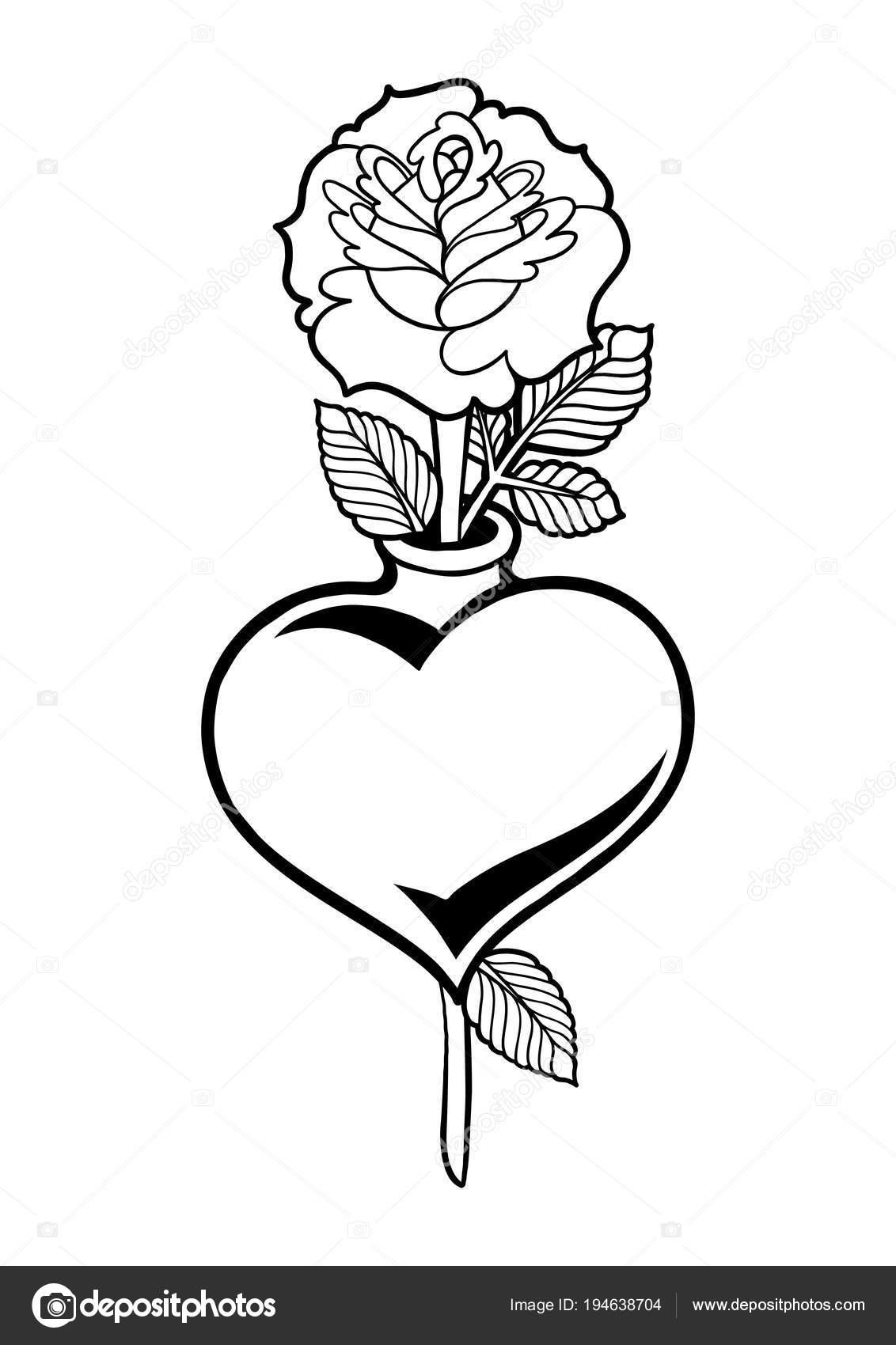 çiçek Ile Grafik Kalp Stok Vektör Homunkulus28 194638704