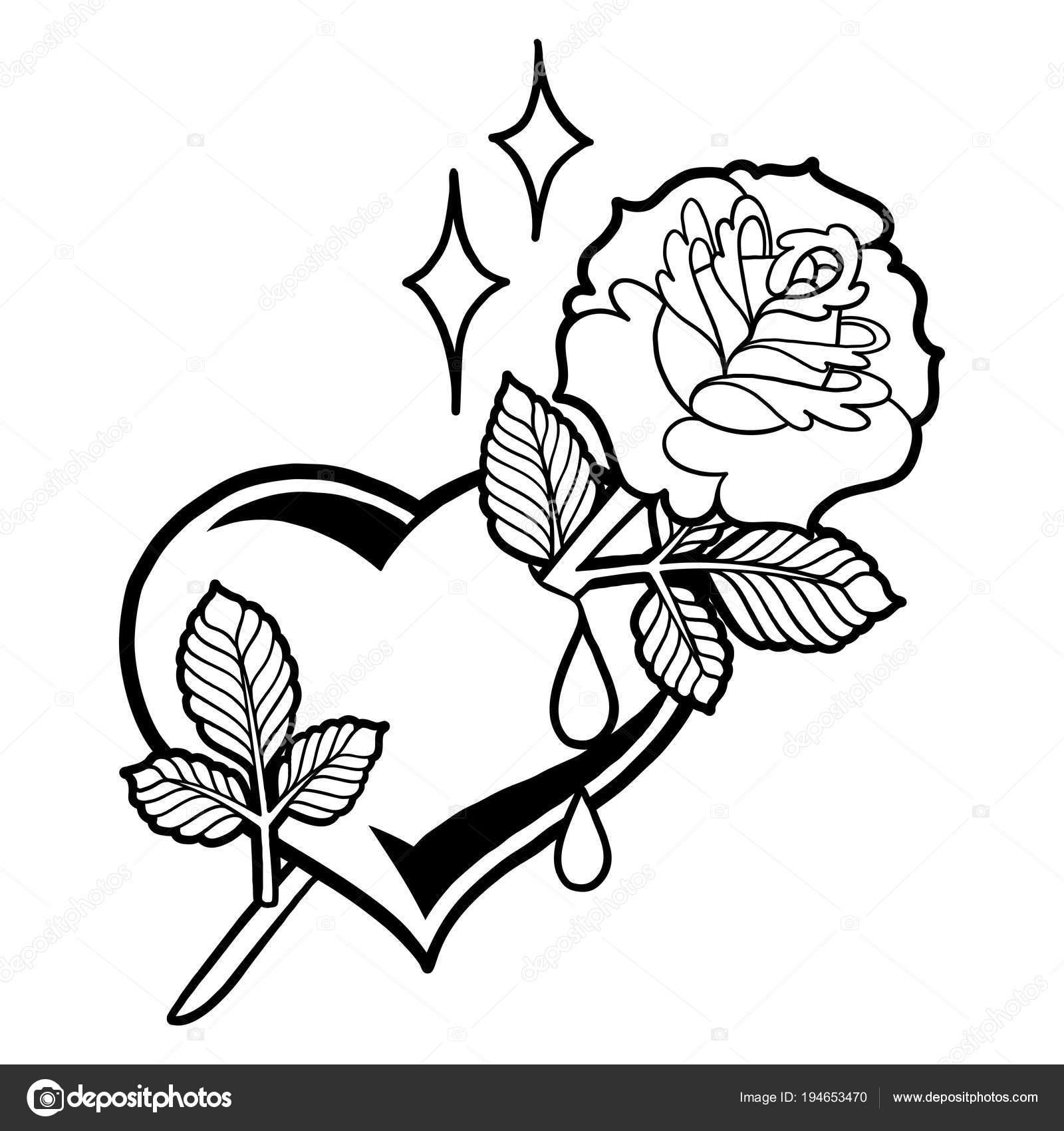Gráfico corazón con flor — Vector de stock © homunkulus28 #194653470