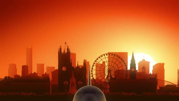 Manchester England United Kingdom Skyline