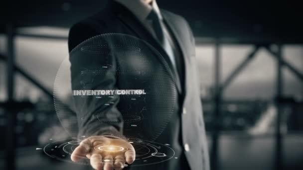 Řízení zásob pomocí hologramu podnikatel koncept