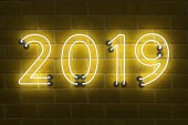 Photo      New Year 2019 - 3D Rendered Image
