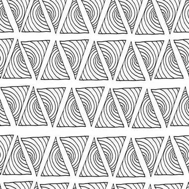 Vector seamless hand drawn triangle pattern.