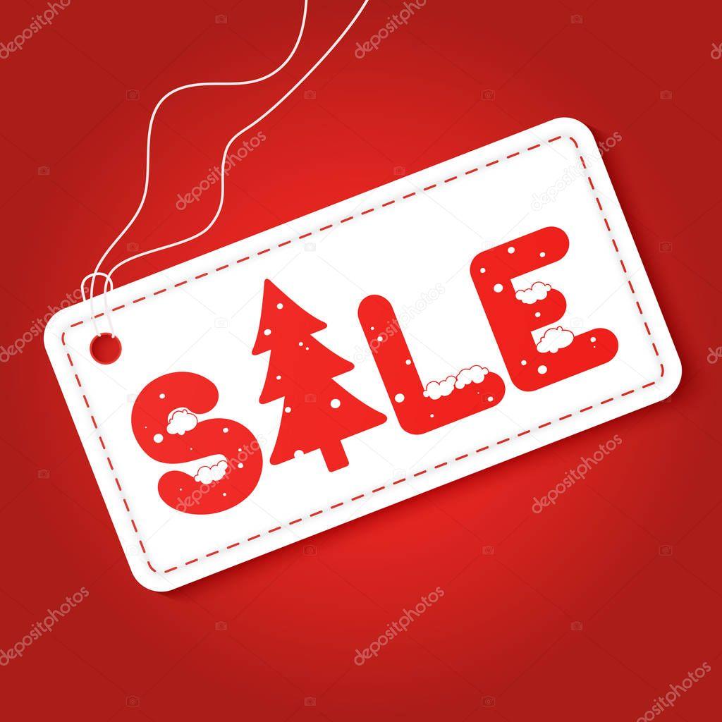 big winter sale poster discount tag sticker mega retail sale
