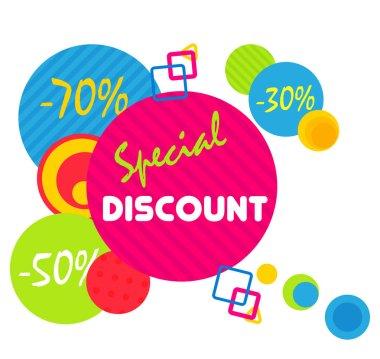 Special offer sale tag discount symbol, mega sale banner retail offer design sticker. Black friday sale banner.
