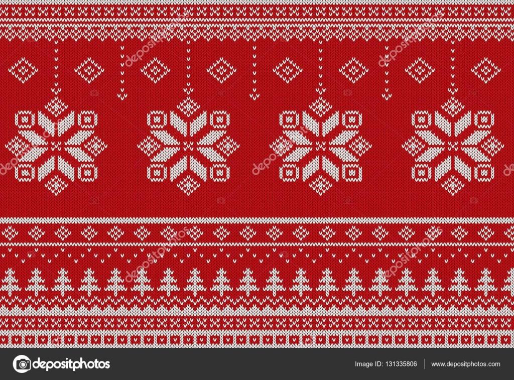 Feliz Navidad escandinavo estilo punto de patrones sin fisuras ...