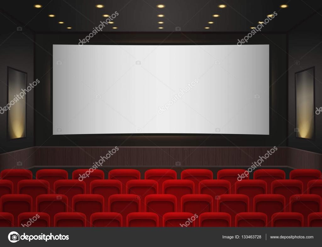 Interior De Uma Sala De Cinema Do Cinema Vermelhos Assentos De  -> Imagem De Sala De Cinema