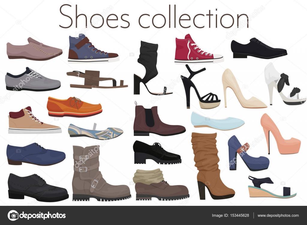 Mujer De Zapatos Colección Y Hombre Trendy Moda Calzado Vector qwvf7f1O