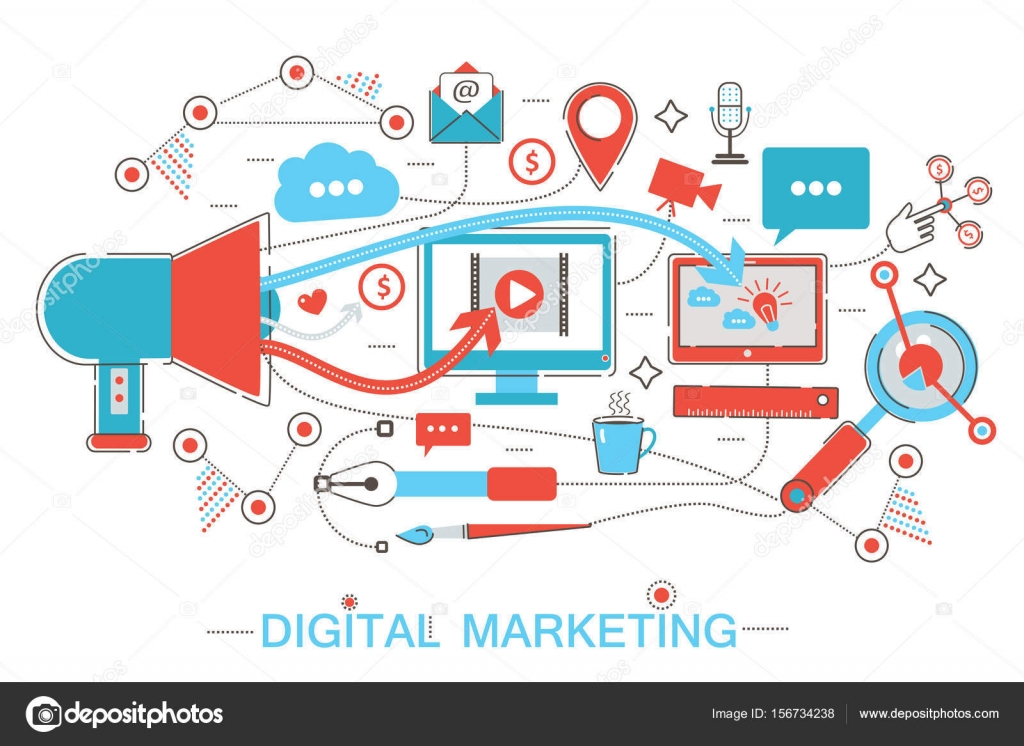 Marketing Digital online y red social media branding estrategia ...