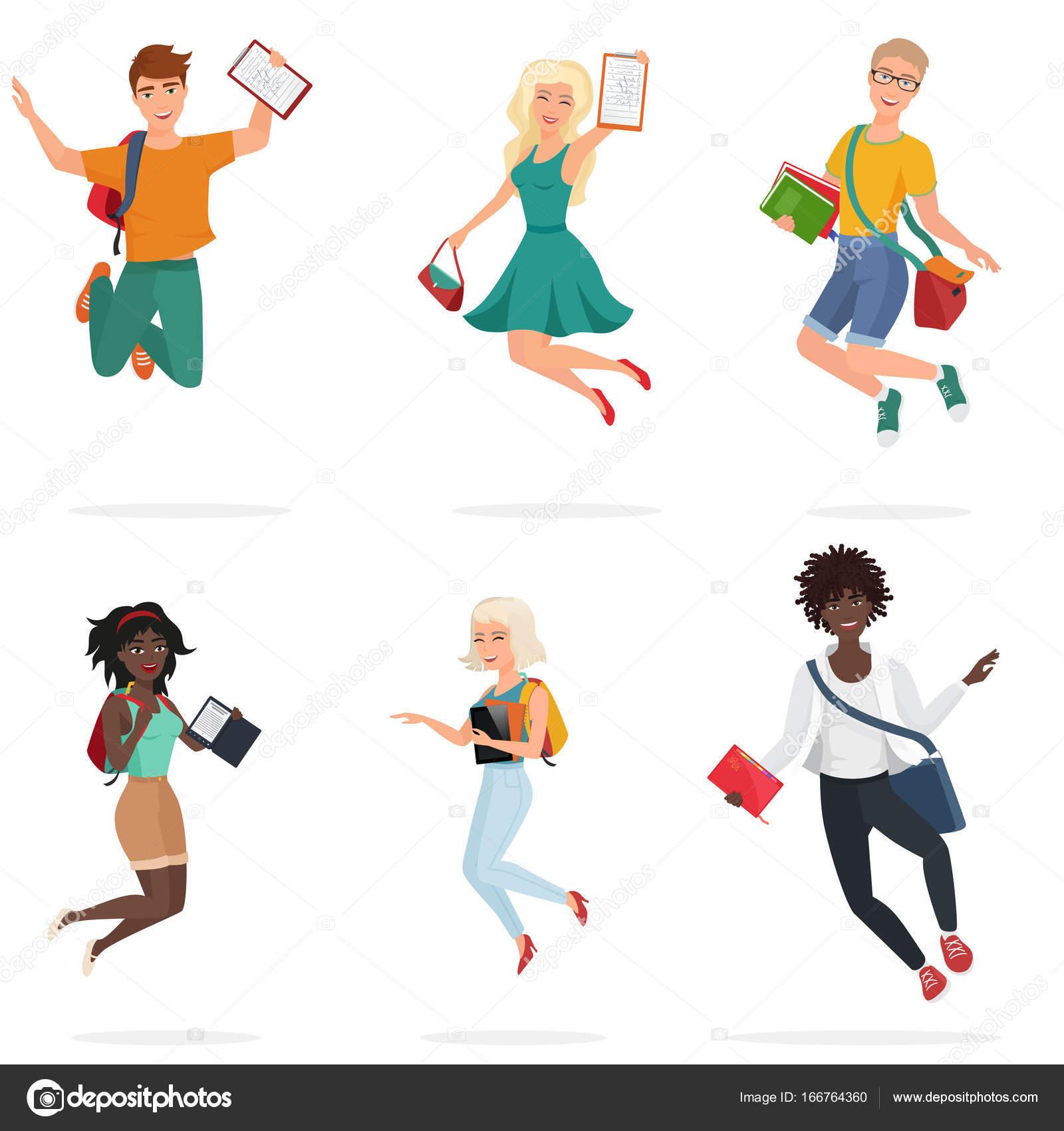 Dibujos Etica Dibujo Feliz Grupo De Amigos De Los Estudiantes De
