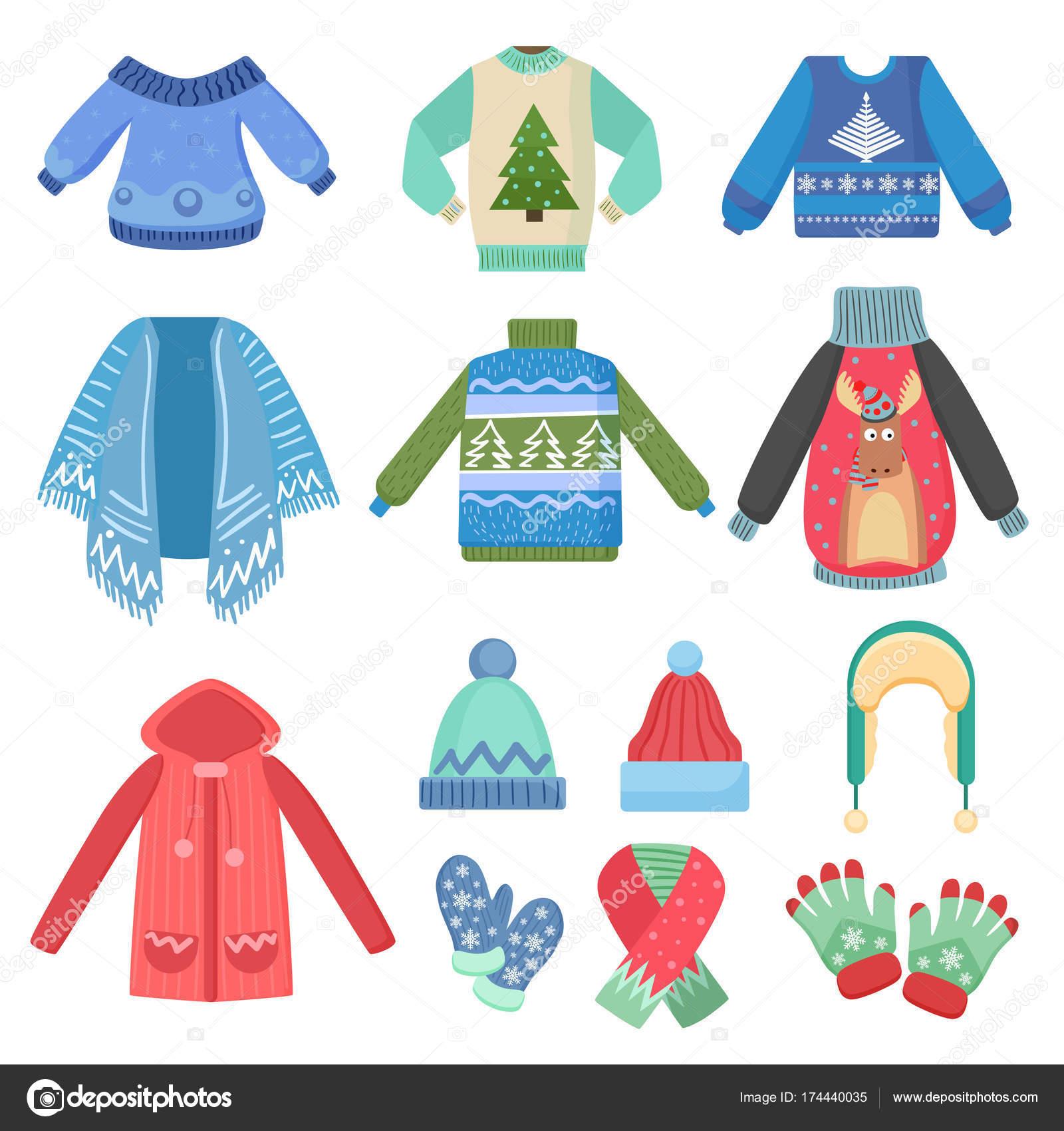 la più grande selezione modellazione duratura marchio popolare Set di vestiti caldi di inverno di Natale disegno. Sciarpa ...