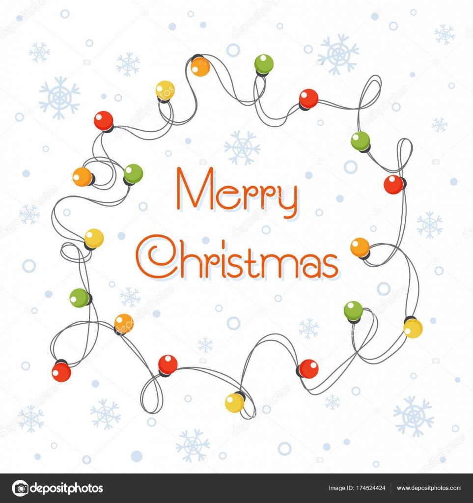Dibujos Luces De Navidad Vector Ilustracion De Dibujos Animados