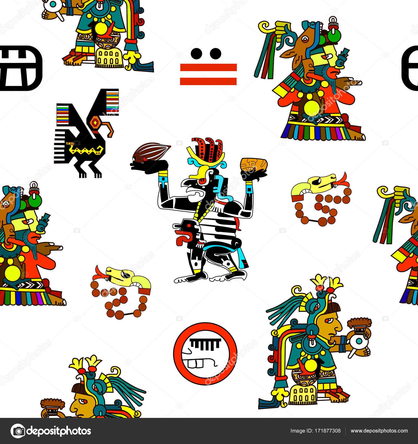 Dibujos Indigenas Mayas Animados Estampados étnicos Los Nativos
