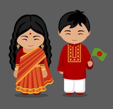 Bangladeshi in national clothes