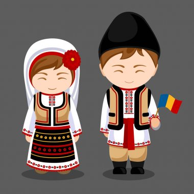 Moldovans in national clothes