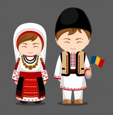 Romanians in national clothes