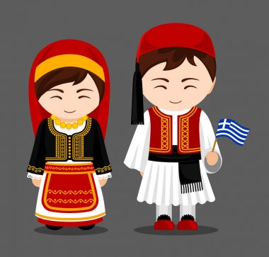 Greeks in national clothes