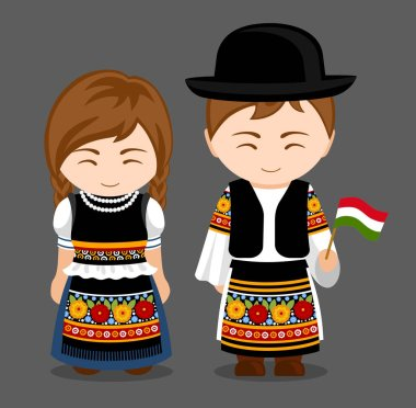 Hungarians in national clothes