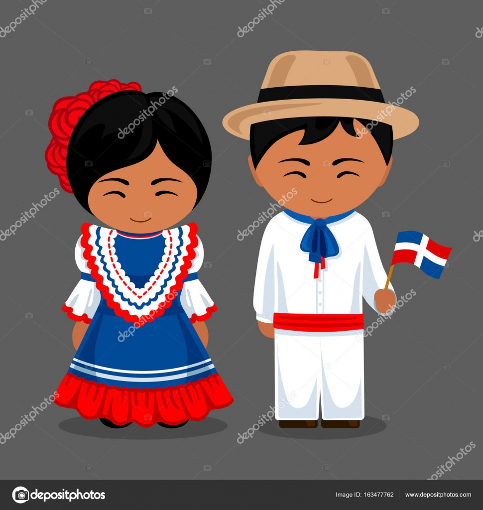 Vestido De La Bandera Dominicana Dominicanos En Nacional Vestido