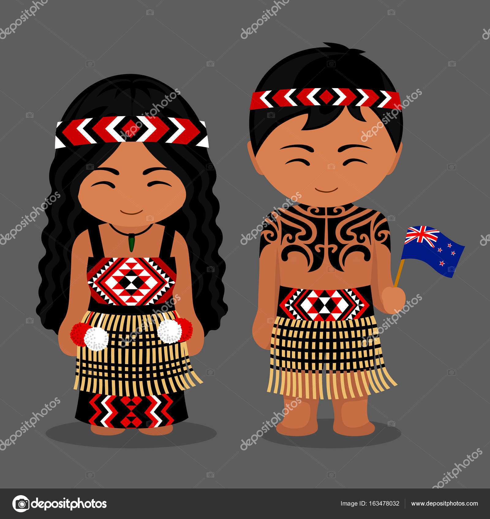 Image result for maori cartoon person girl