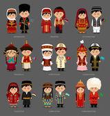 Fotografie Azerbaijanis, Afghans, Tajiks, Uzbeks, Mongols, Turkmens, Kazakhs, Kirghiz, Armenians. People in national clothes