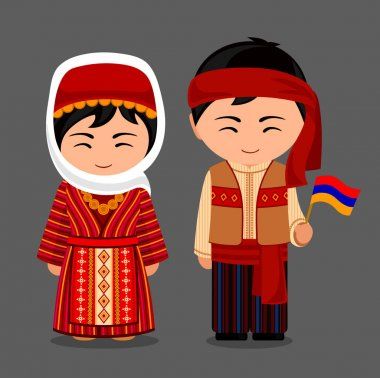 Armenians in national clothes