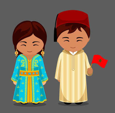 Moroccans in national clothes