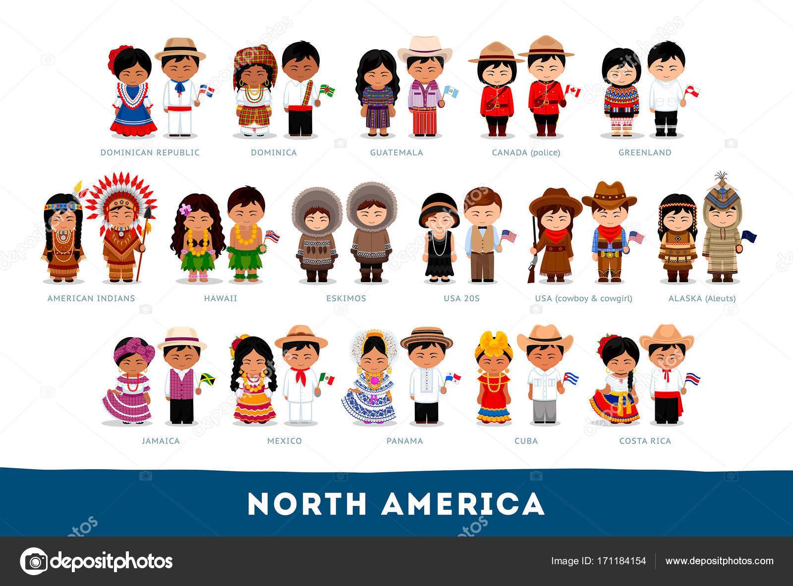 pretty nice 036d6 029e6 Americani in vestiti nazionali. America del Nord ...
