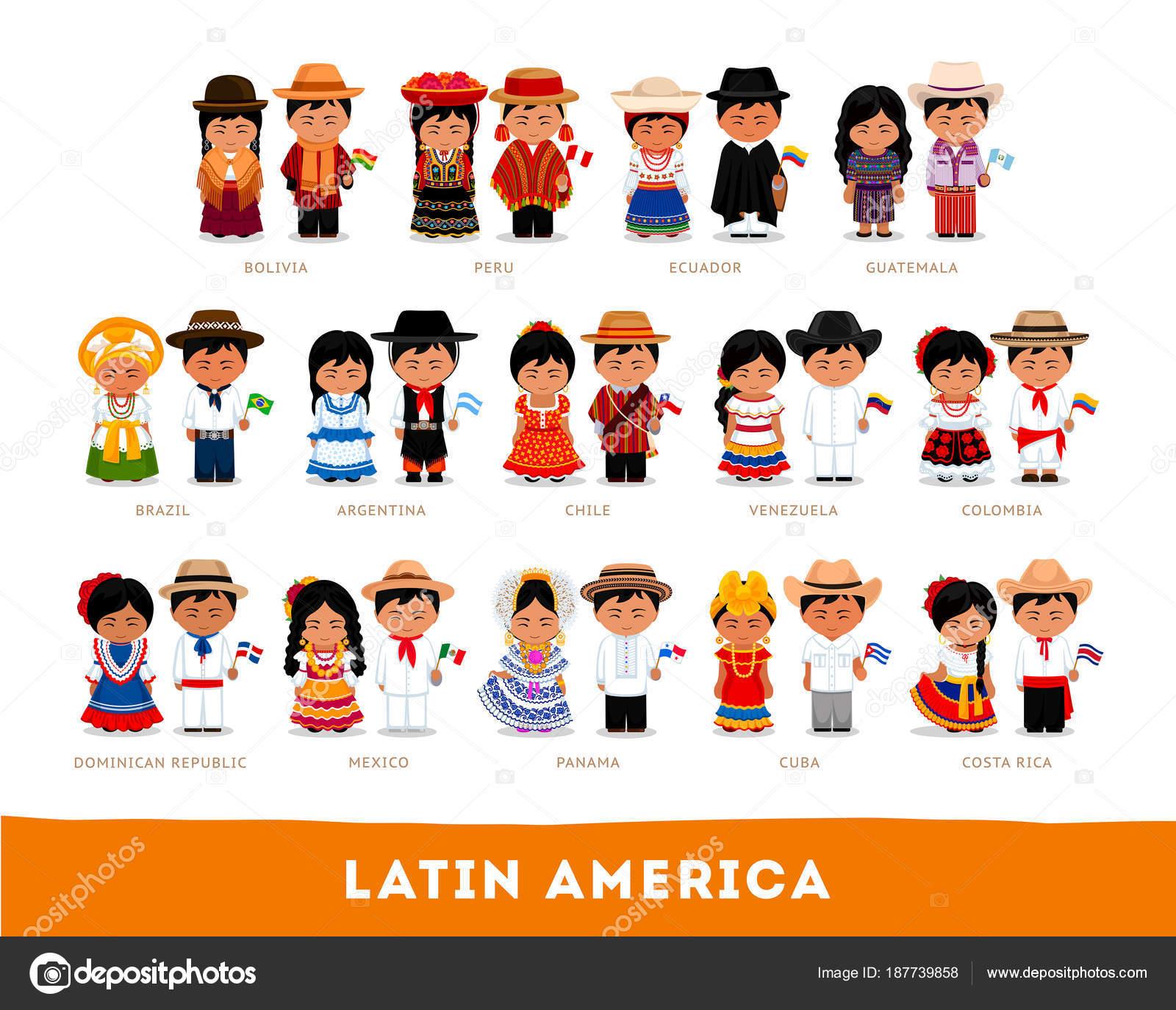Imágenes Indigenas Colombianos Animados Latinoamericanos En Ropa