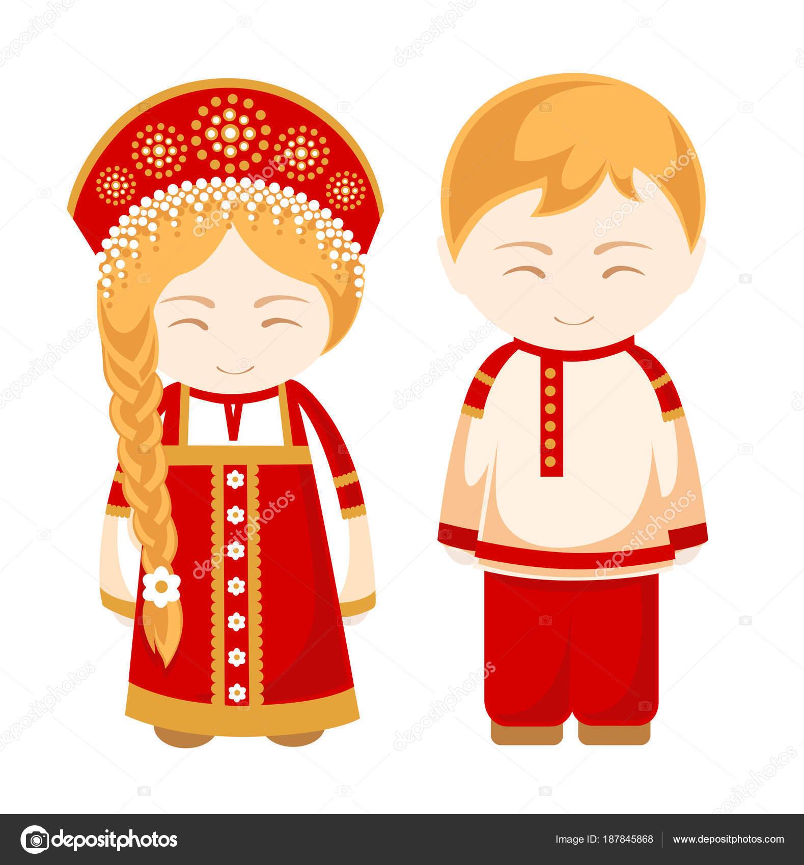 ロシア男と女人 ストックベクター Arizona Dream 187845868