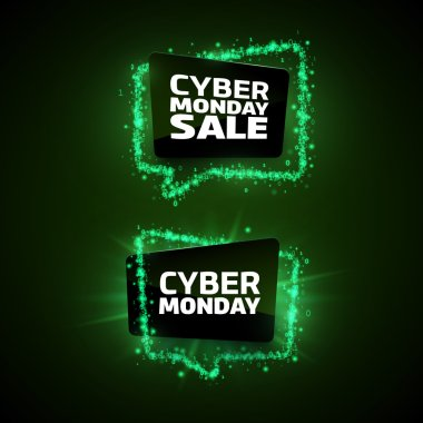 Set of Cyber Monday promotion banners