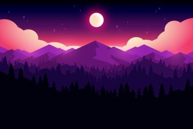mountain and forrest landscape
