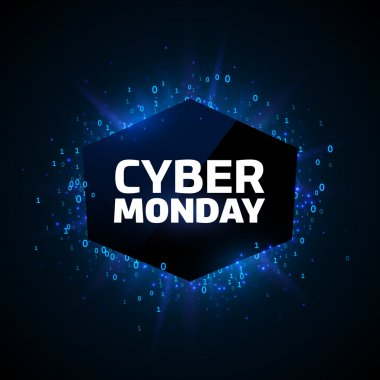 Cyber Monday promotion banner template