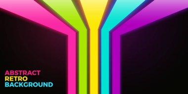 vivid neon lines