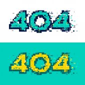 Fotografie 404 page with glitch effect.