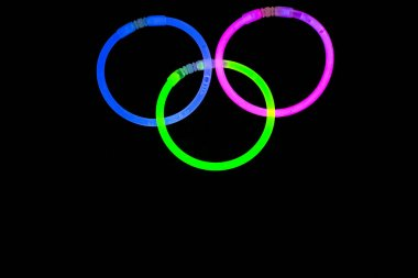 Glow sticks fluorescent lights