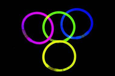 Glow sticks fluorescent lights