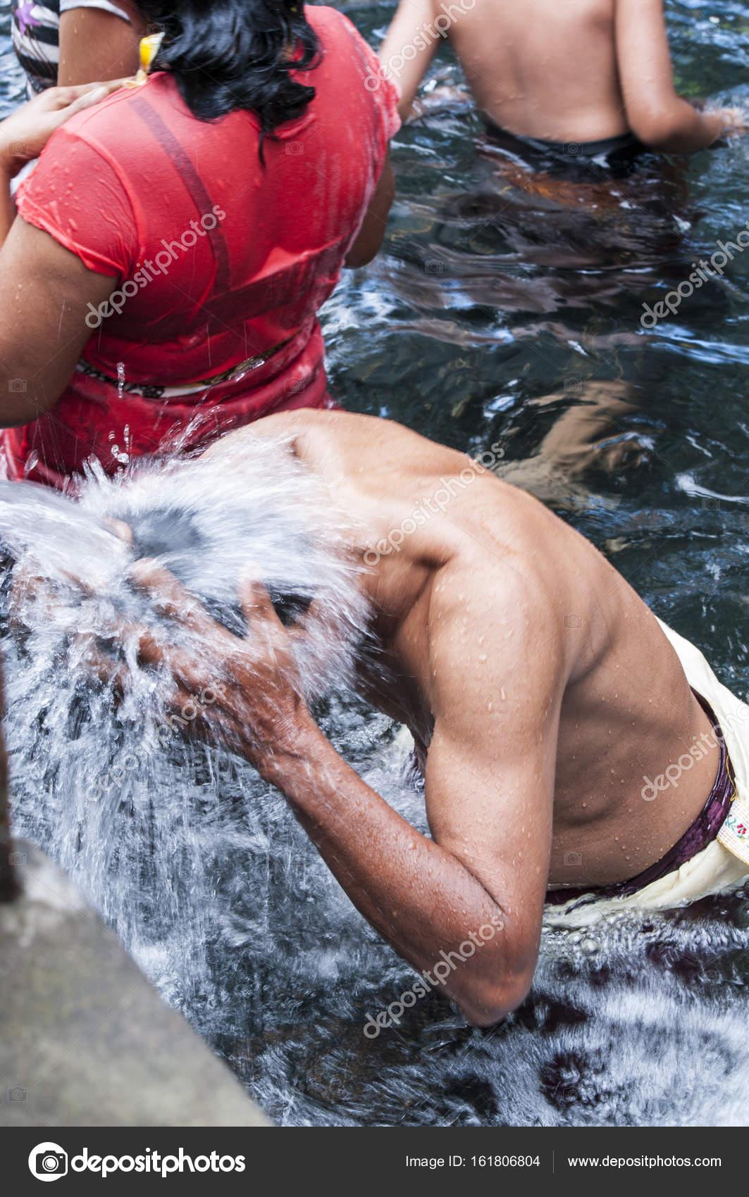 Documentary editorial image  Holy Spring Water Tirta Empul